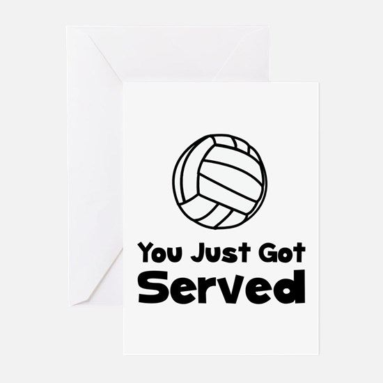 Volleyball Served Greeting Cards (Pk of 10)