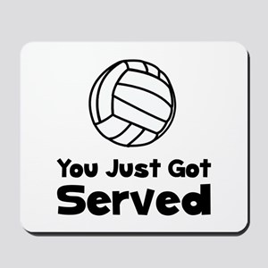 Volleyball Served Mousepad
