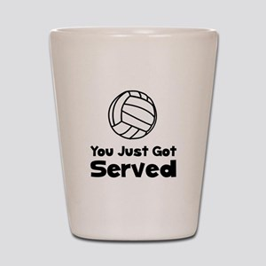 Volleyball Served Shot Glass