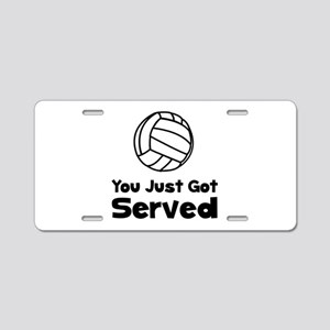 Volleyball Served Aluminum License Plate