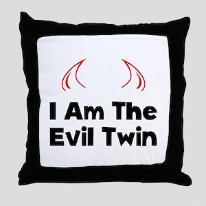 Evil Twin Throw Pillow