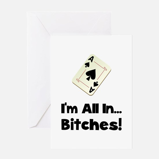 Gambling All In Greeting Card