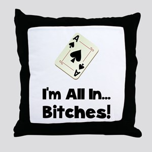 Gambling All In Throw Pillow