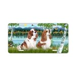 Birches-Two Cavaliers (BL) Aluminum License Plate