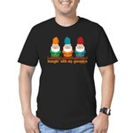 Hangin' With My Gnomies Men's Fitted T-Shirt (dark