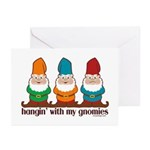 Hangin' With My Gnomies Greeting Cards (Pk of 10)