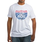 405 TRAFFIC REPORT = PARKING LOT Fitted T-Shirt
