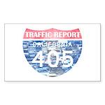 405 TRAFFIC REPORT = PARKING LOT Sticker (Rectangl