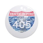 405 TRAFFIC REPORT = PARKING LOT Ornament (Round)