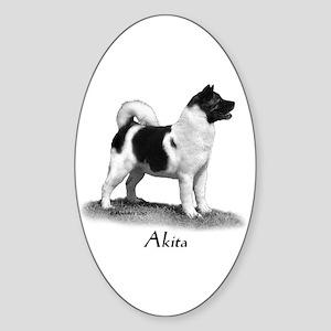 Akita Sticker (Oval)