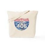 405 TRAFFIC REPORT = PARKING LOT Tote Bag