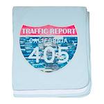 405 TRAFFIC REPORT = PARKING LOT baby blanket