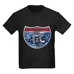 405 TRAFFIC REPORT = PARKING LOT Kids Dark T-Shirt