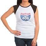 405 TRAFFIC REPORT = PARKING LOT Women's Cap Sleev