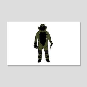 Bomb Suit 22x14 Wall Peel