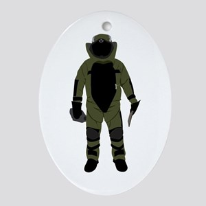 Bomb Suit Ornament (Oval)