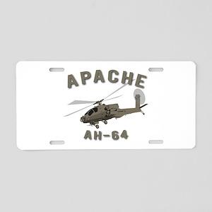 Apache AH-64 Aluminum License Plate