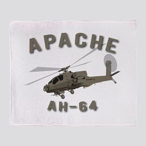 Apache AH-64 Throw Blanket