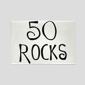 50th birthday saying, 50 rocks! Rectangle Magnet