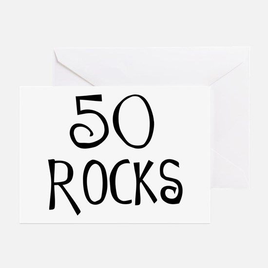 50th birthday saying, 50 rocks! Greeting Cards (Pa