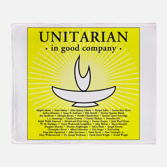 """Unitarian in Good Company"" Throw Blanket"