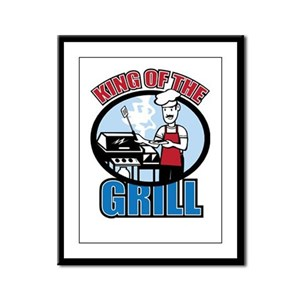 King of the Grill Framed Panel Print
