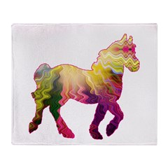 A Horse of a Different Color Throw Blanket