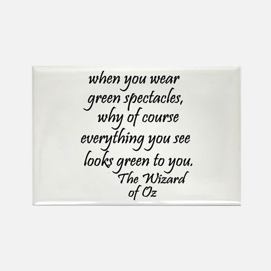 Green Glasses Rectangle Magnet