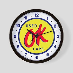 OK Used Cars Wall Clock