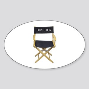 Director - Oval Sticker