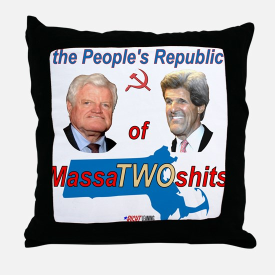 """MassaTWOshits"" Throw Pillow"