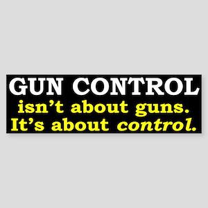 Gun Control Sticker (Bumper)