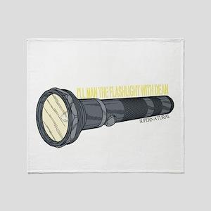Man'in Dean's Flashlight Throw Blanket