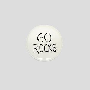 60th birthday saying, 60 rocks! Mini Button