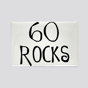 60th birthday saying, 60 rocks! Rectangle Magnet