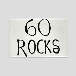 60th birthday saying, 60 rocks! Rectangle Magnet