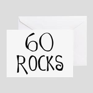 60th birthday saying, 60 rocks! Greeting Cards (Pa