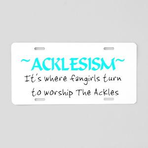 Acklesism Aluminum License Plate