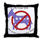 Ex DemocRAT Throw Pillow