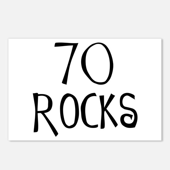 70th birthday saying, 70 rocks! Postcards (Package