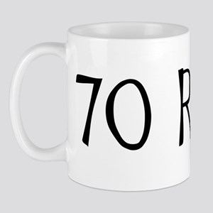 70th birthday saying, 70 rocks! Mug
