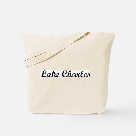 Vintage Lake Charles Tote Bag