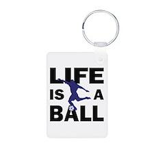 Life Is A Ball Soccer Aluminum Photo Keychain