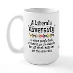 Liberal Diversity Large Mug