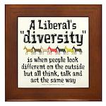 Liberal Diversity Framed Tile