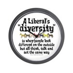Liberal Diversity Wall Clock