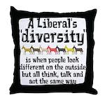 Liberal Diversity Throw Pillow