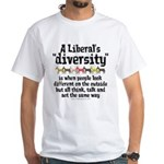 Liberal Diversity White T-Shirt