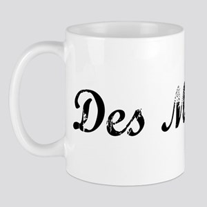 Vintage Des Moines Mug