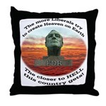 Liberal Hell on Earth Throw Pillow